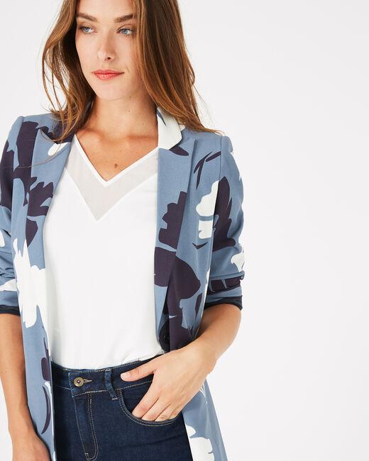 Demoiselle mid-length blue tailored jacket (2) - 1-2-3