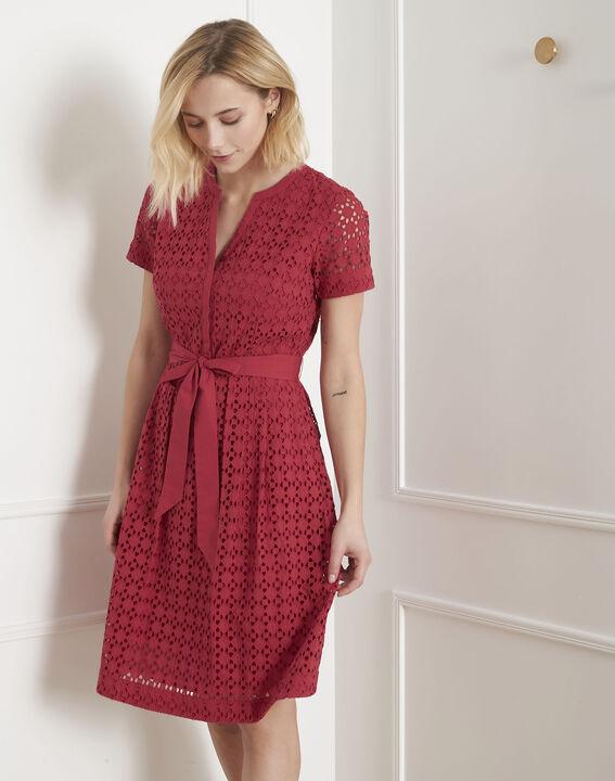 Robe rouge en dentelle cintrée Loreta (1) - Maison 123