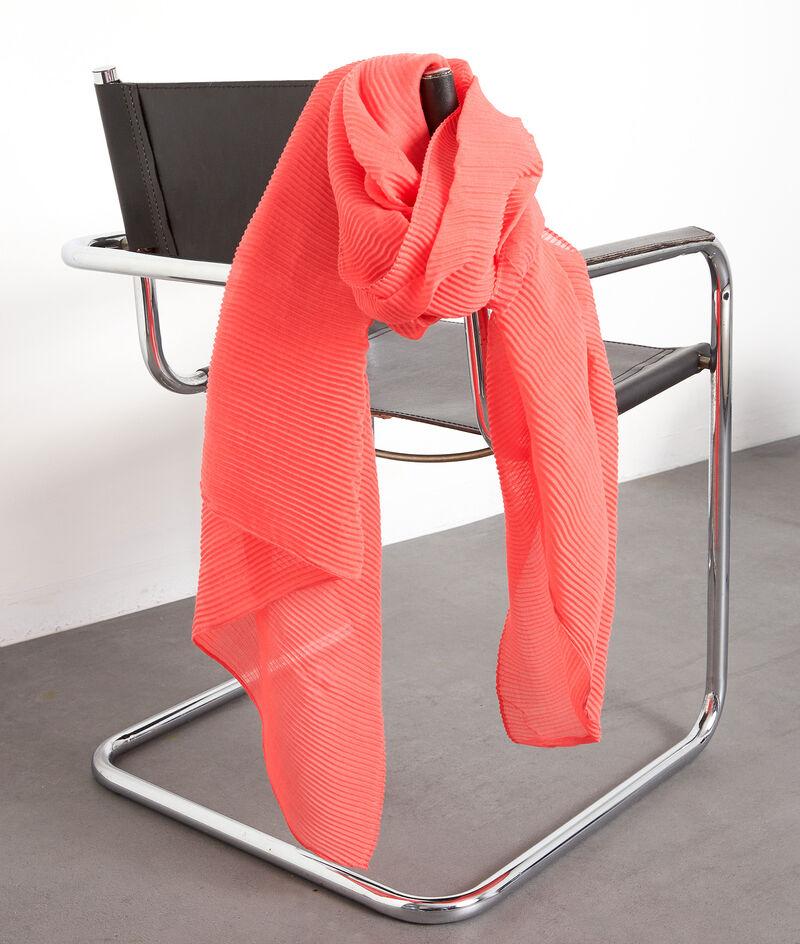 Grand foulard plissé corail Paloma PhotoZ | 1-2-3