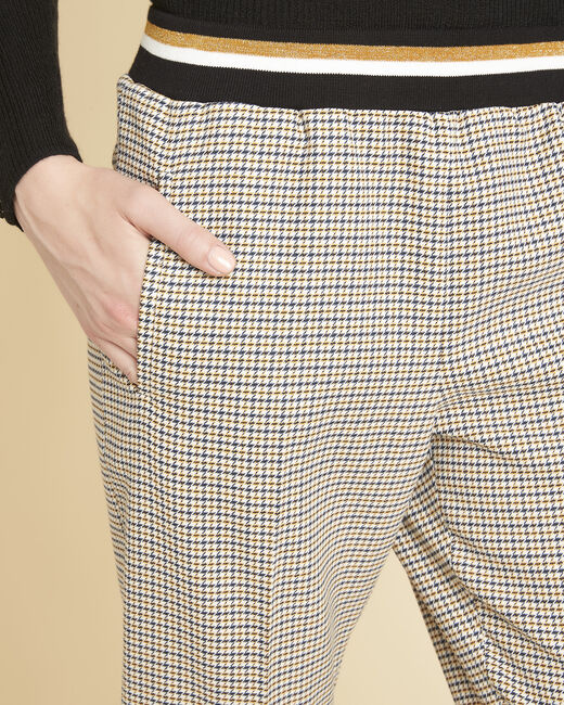 Halva check trousers with contrasting belt (2) - 1-2-3