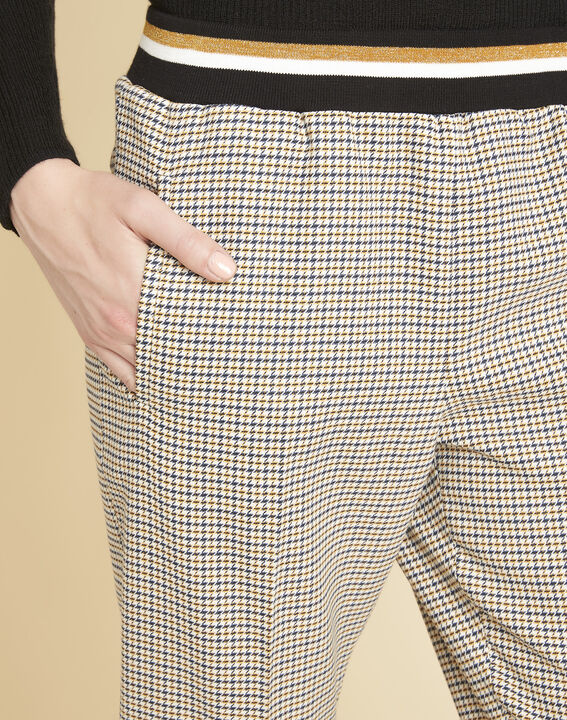Halva check trousers with contrasting belt (3) - 1-2-3