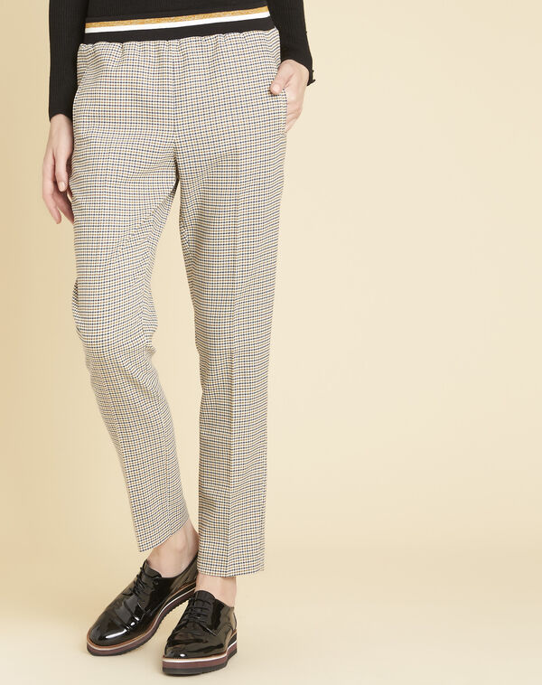 Pantalon à carreaux ceinture contrastante Halva (1) - 1-2-3