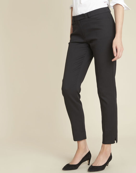Valero black compact cigarette-cut trousers PhotoZ | 1-2-3