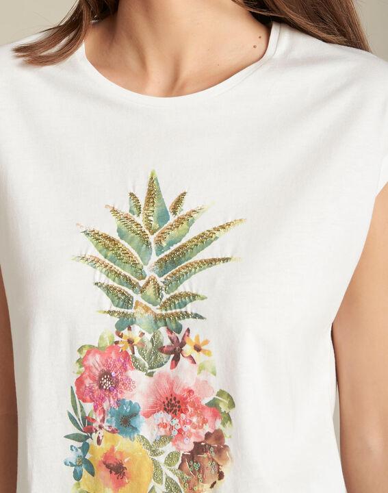 Emerveille pineapple ecru T-shirt PhotoZ | 1-2-3