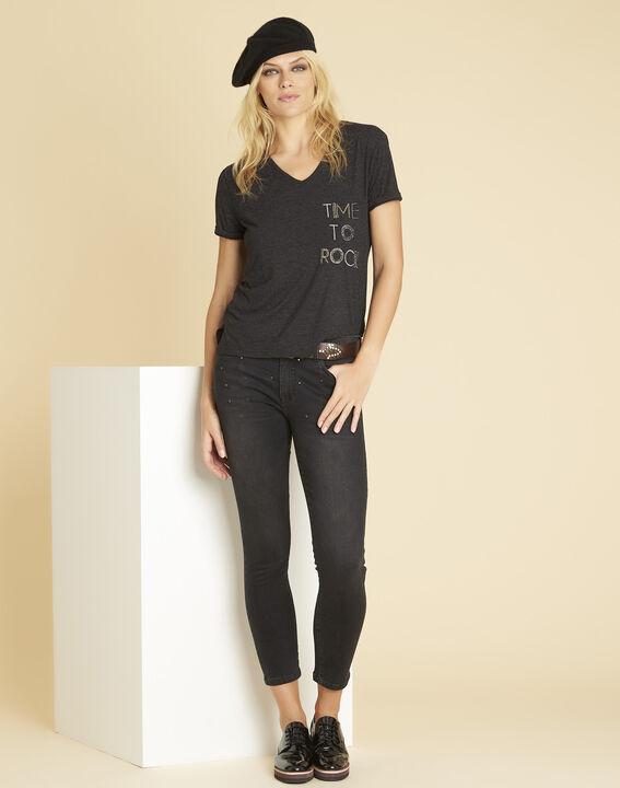 Garocky dark grey printed T-shirt (2) - 1-2-3