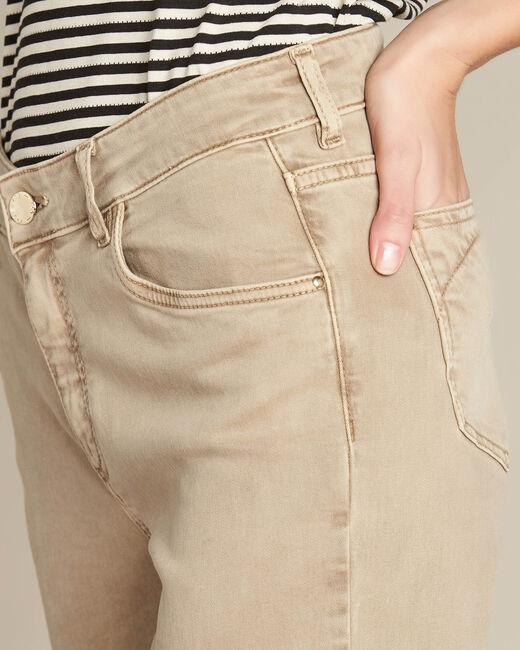 Camelfarbene 7/8-Slim-Fit-Jeans Vendome (2) - 1-2-3
