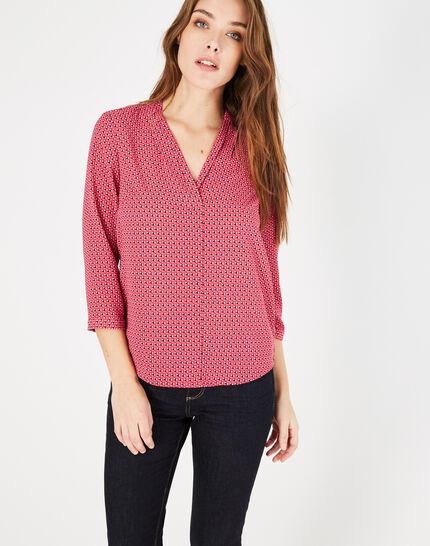 Bianca fuchsia printed blouse (1) - 1-2-3