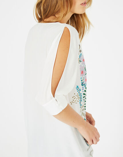 Dune printed blouse with bare shoulders (3) - 1-2-3