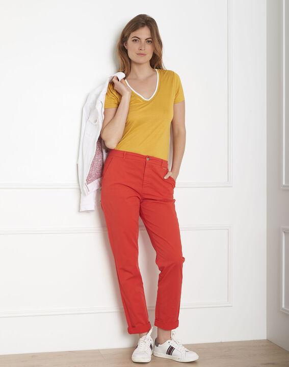Pantalon rouge chino Calypso (2) - Maison 123