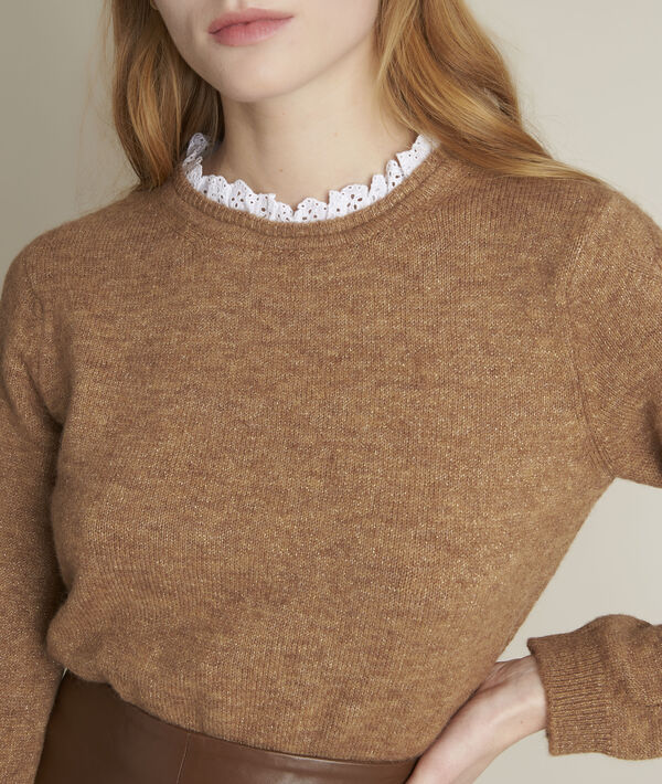 Pull lurex col fantaisie tabac Froufrou PhotoZ | 1-2-3