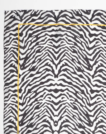 Schwarzes seidenhalstuch mit zebraprint anouk schwarz.