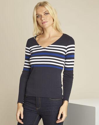 Gayure navy striped t-shirt navy.