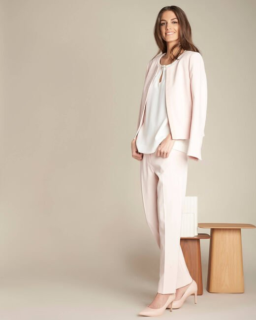 Valero tailored, pleated trousers in nude (2) - 1-2-3