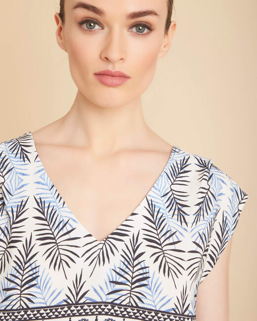 Miledine printed flowing blue top (1) - 1-2-3