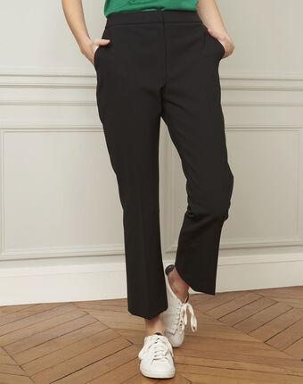 Gaston flared black trousers black.