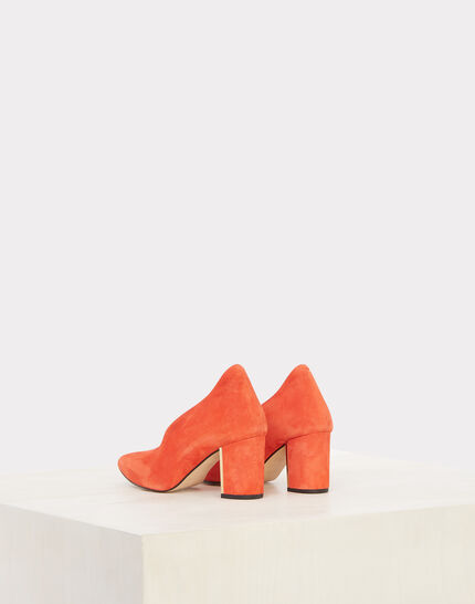 Escarpins orange en cuir Naomi (3) - 1-2-3