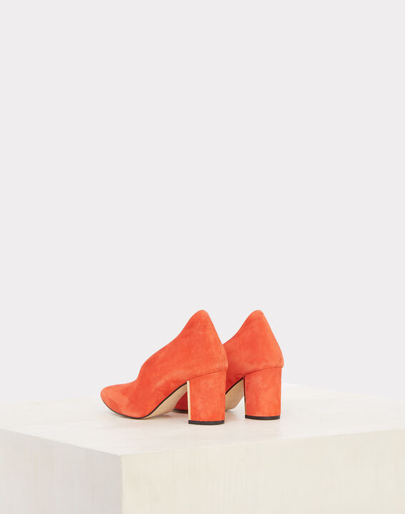 Escarpins orange en cuir Naomi (3) - 1-2-3