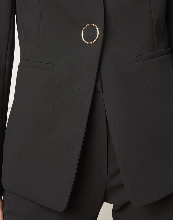 Veste noire tailleur microfibre Majesté (4) - Maison 123