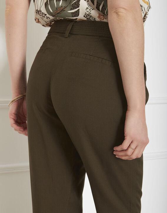 Pantalon kaki fluide ceinture Geode (3) - Maison 123