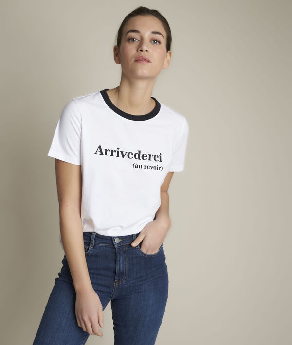 Tee-shirt en coton biologique blanc Rivale PhotoZ | 1-2-3