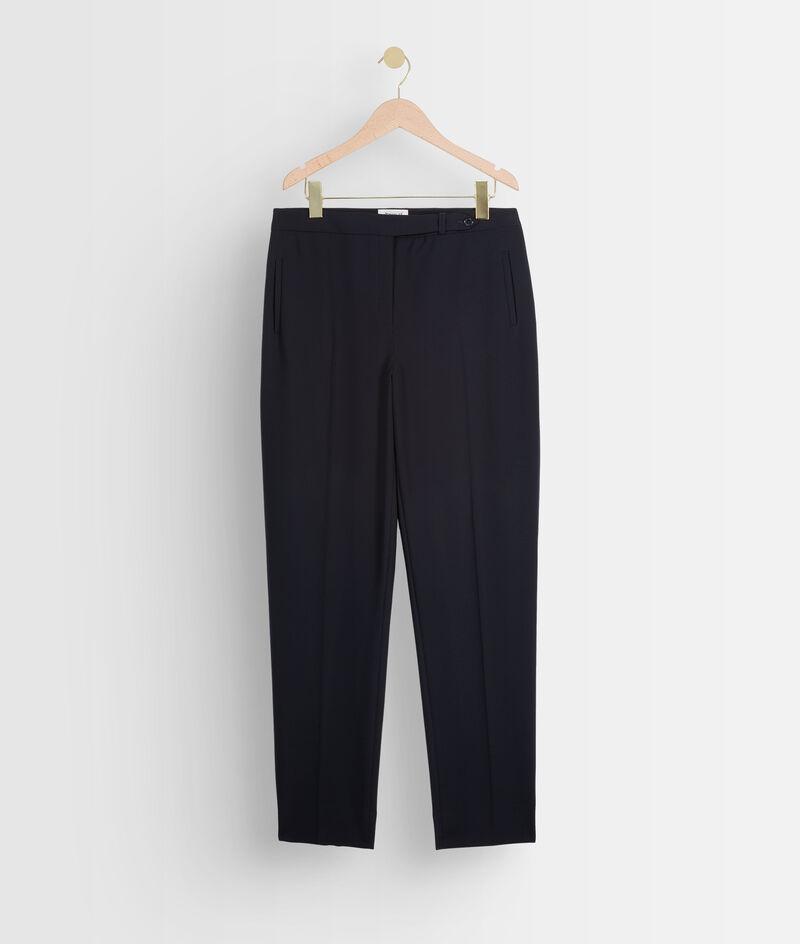 Pantalon marine slim microfibre Lara PhotoZ | 1-2-3