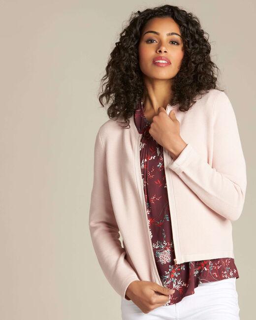 Napoli pale pink zipped ottoman jacket (2) - 1-2-3