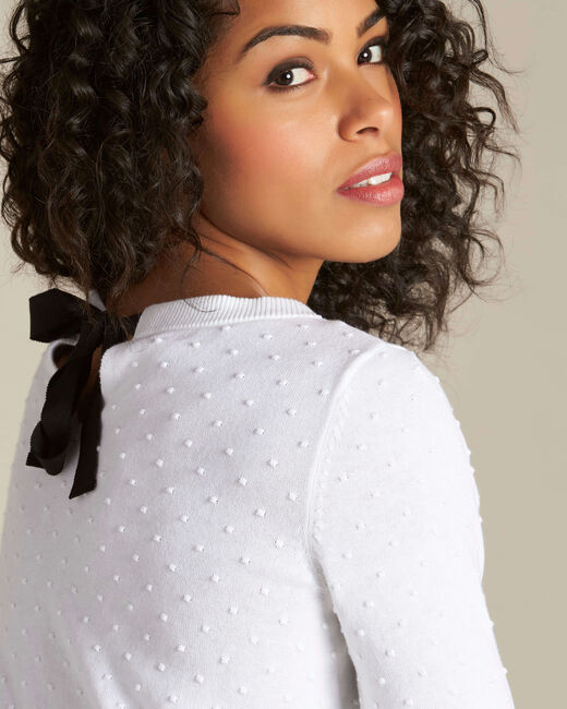 Nadia white sweater with bow on the back (2) - 1-2-3