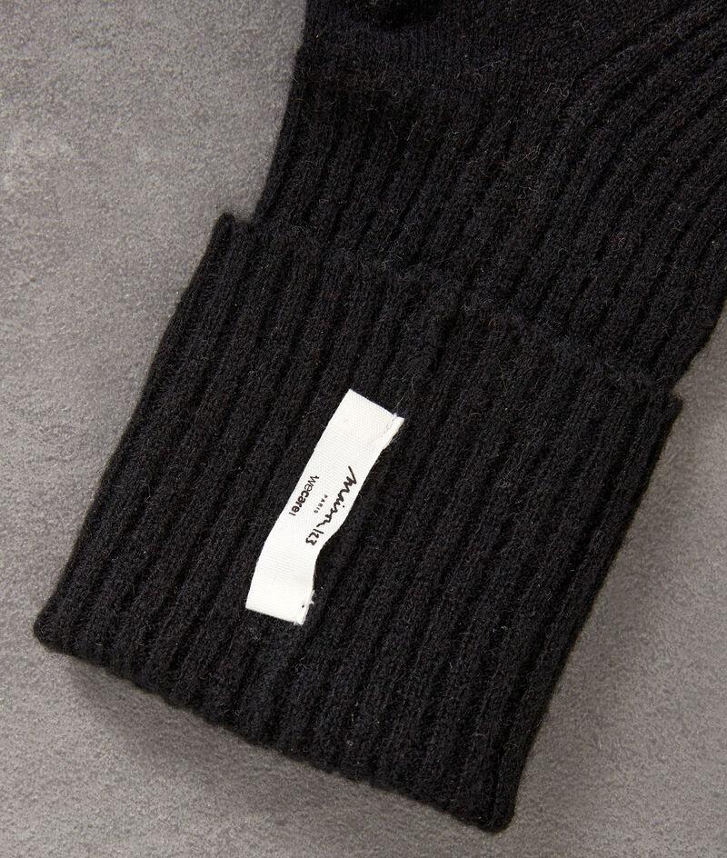 Chaussettes en cachemire côtelé noir Thevan PhotoZ | 1-2-3