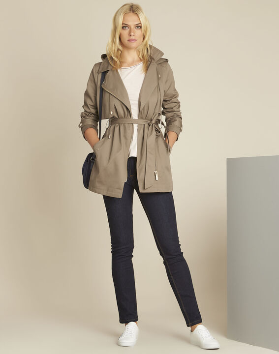 Ella khaki cotton trenchcoat (2) - Maison 123