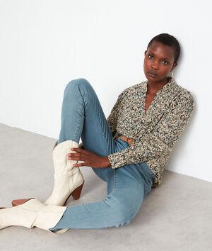 Jean slim en coton bleu gris Nevada