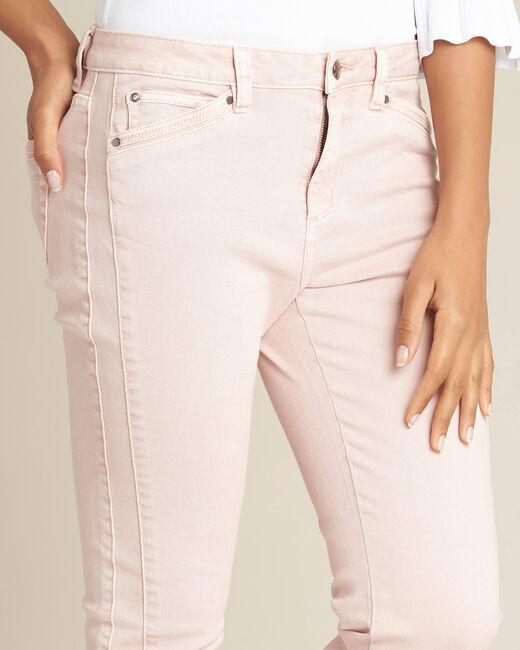 Roze slim fit jeans met enkelritsen Opera (2) - 37653