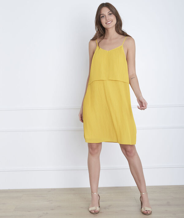 Anijskleurige geplooide jurk Harlette PhotoZ | 1-2-3
