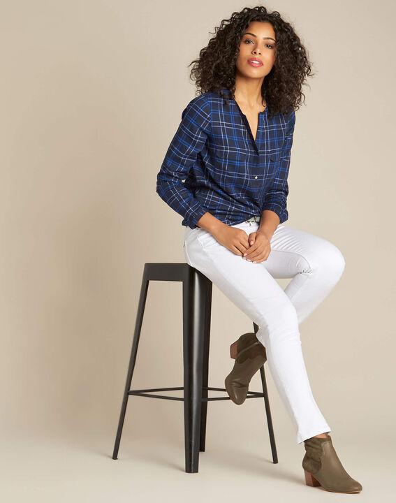 Murielle navy blue check shirt (2) - 1-2-3