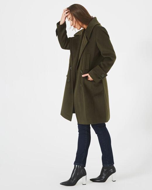 Manteau kaki en laine mélangée Jasper (2) - 1-2-3