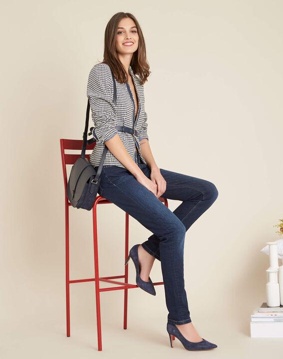 Blaue Slim-Fit-Jeans mit normaler Leibhöhe Vendome (2) - 1-2-3