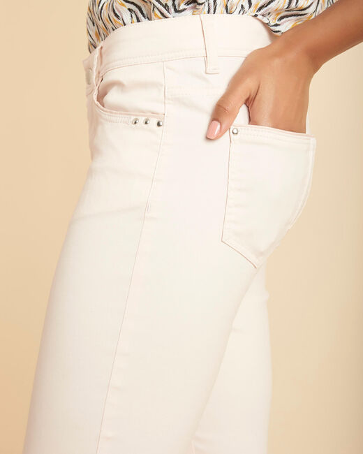 Valley regular fit pale pink slim-cut coated jeans (2) - 1-2-3