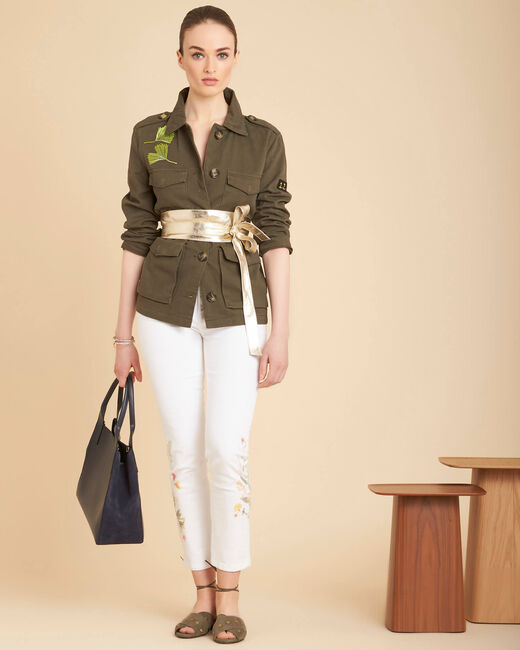 Weiße 7/8-Jeans mit Print Vendome (2) - 1-2-3