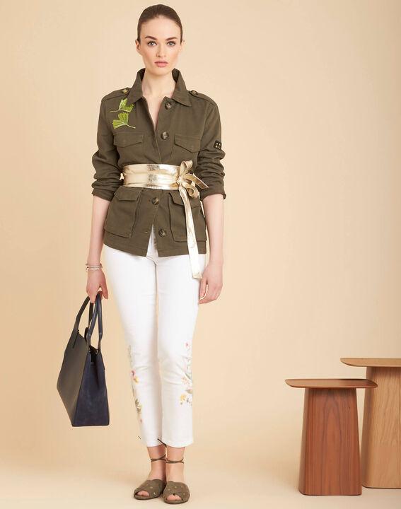 Vendôme 7/8 length printed white jeans (2) - 1-2-3