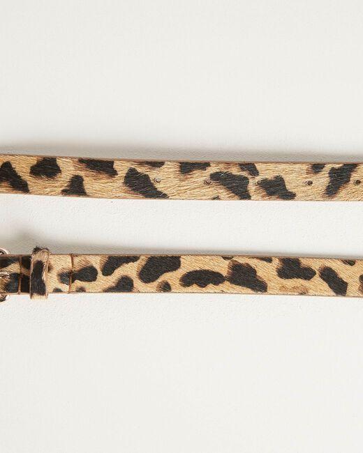 Romeo leopard print belt in beige (2) - 1-2-3