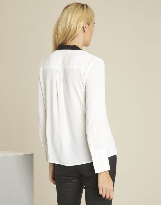 Clea ecru bib front and bias blouse (4) - 1-2-3