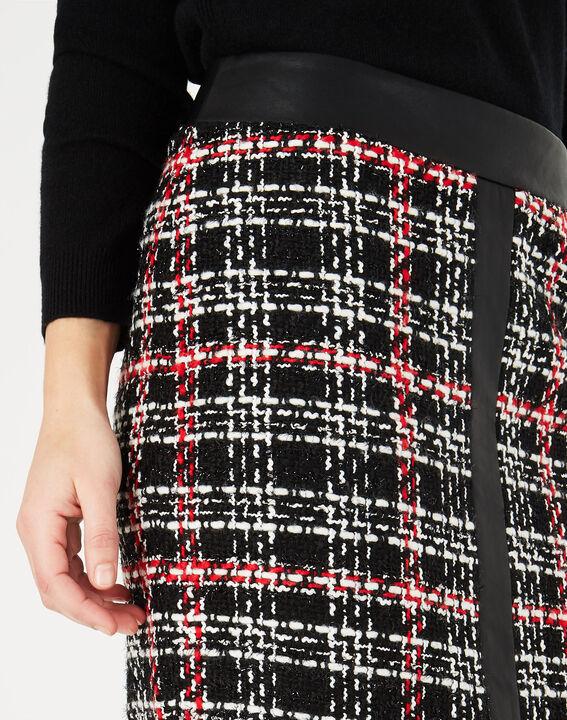 Felicia black and white check skirt (3) - 1-2-3