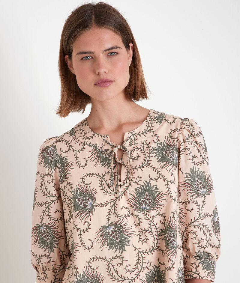 Robe droite en coton imprimé kaki Sherazade PhotoZ   1-2-3