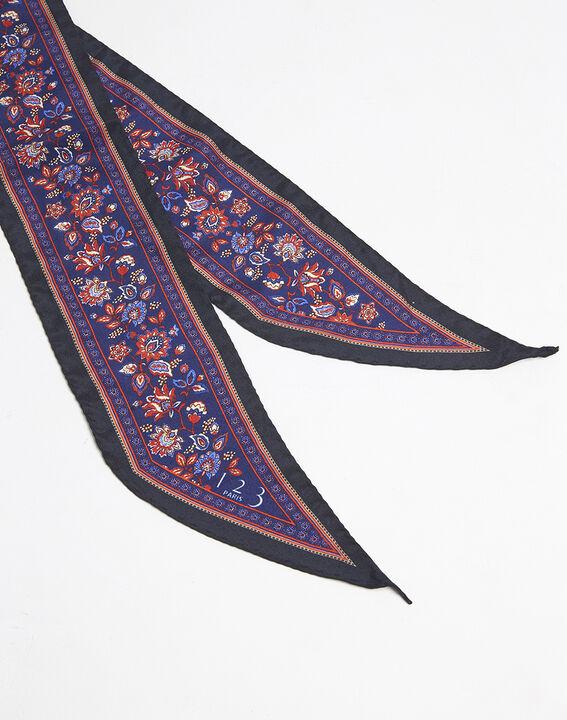 Krawatten- und Gürteltuch aus Seide mit Druckmuster Fiby (2) - 1-2-3