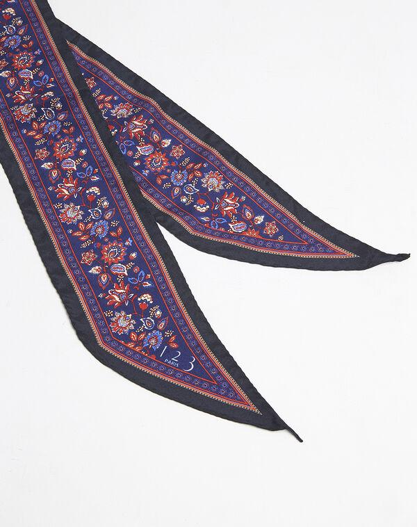 Fiby printed silk tie belt (1) - 1-2-3