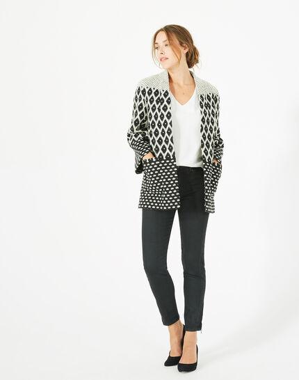 Minotaure black and white jacquard jacket (1) - 1-2-3