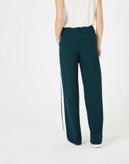 Pantalon vert foret fluide bande côté Kamelia (5) - 1-2-3