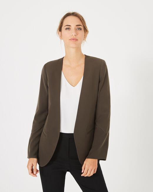 Mascara khaki belted jacket (2) - 1-2-3