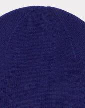 Bonnet bleu en cachemire tilleul ink.