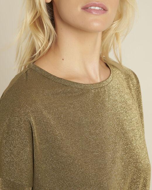 Kaki lurex shirt Galway (2) - 37653