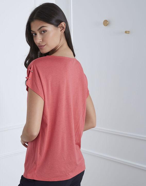 Tee-shirt rose détails épaules Palmbeach (4) - Maison 123